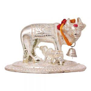 Cow and Calf Pooja Mandir Idol