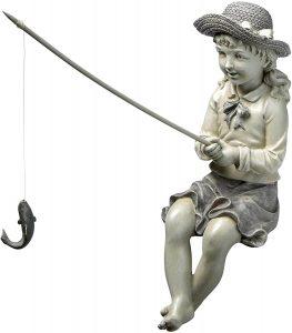Fishing Garden Statue